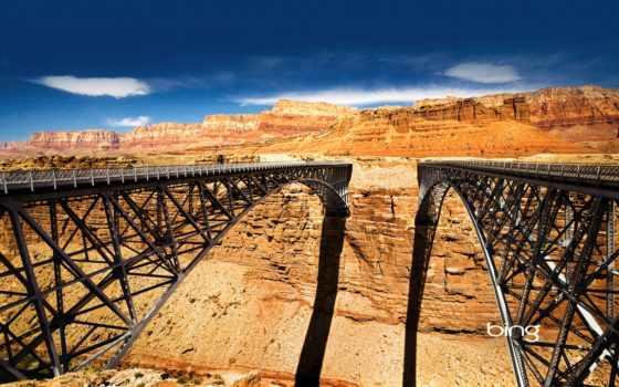 каньон, янв, мосты, сквозь, favourite, природа, marble, bing,