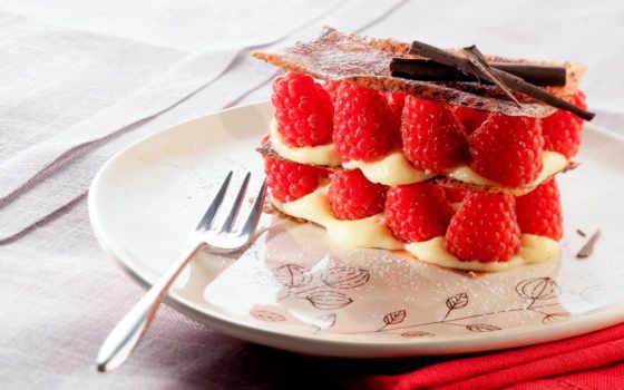 малина, десерт, торт, сладкое, мороженое, еда,