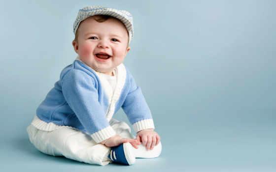ребенок, baby, ребенка, месяцев, cheerful, grandparents, дня,