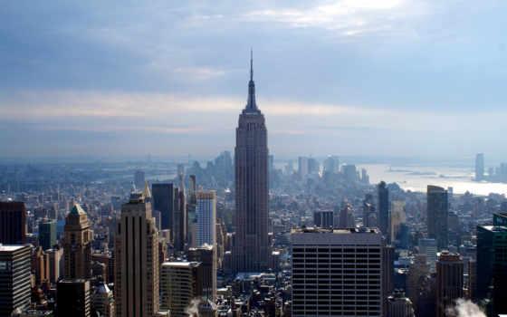 new, york, город, нью, небоскребы, winter, desktop,