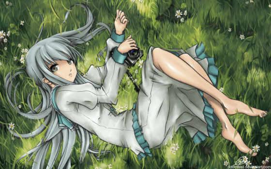 grass, anime