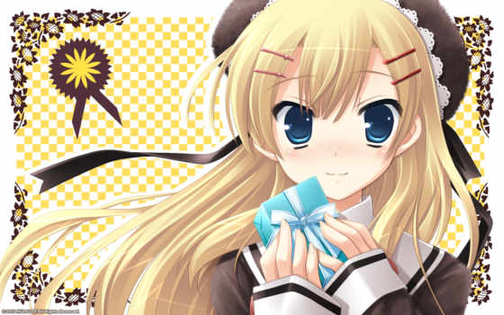 with, ribbon, minamura, airi, hair, ikegami, akane, smile, game, highres,