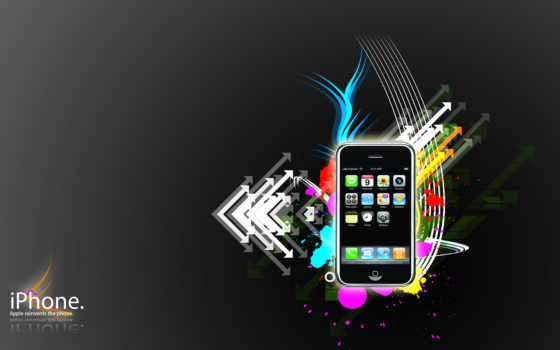 iphone, стиль, вектор