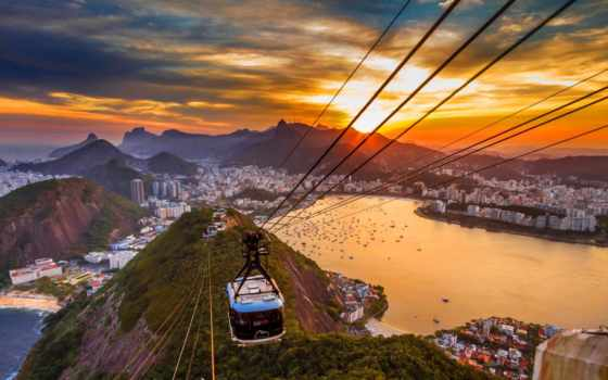 copacabana, рио, janeiro, пляж, rio, brazilian, подемник,