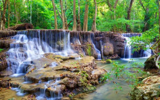 fototapet, cascada, водопад, pca, wtf, пе, рон, copaci, padurea,