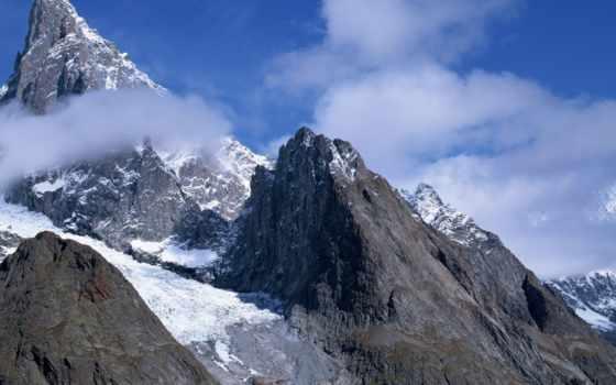 горы, острые, камни, white, серый, blue, гора, красивые,