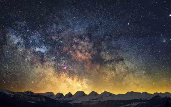 млечный, путь, небо, качество, high, cosmos, stars, winter,