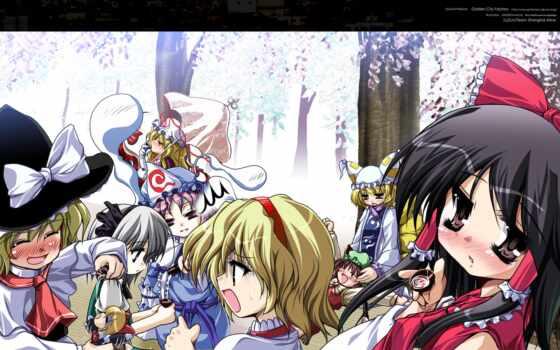 аниме, yakumo, hair, marisa, kirisame, konpaku, alice, chen, margatroid, yuyuko, saigyouji, youmu, reimu, hakurei,