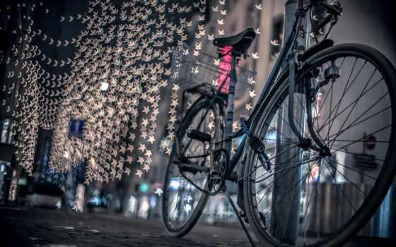 город, ночь, дорога, огни, улица,