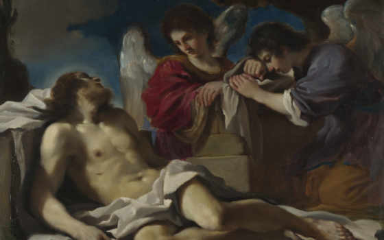 guercino, dead, angels