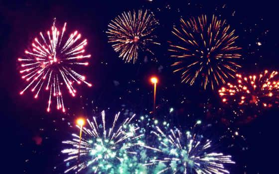 fireworks, фон