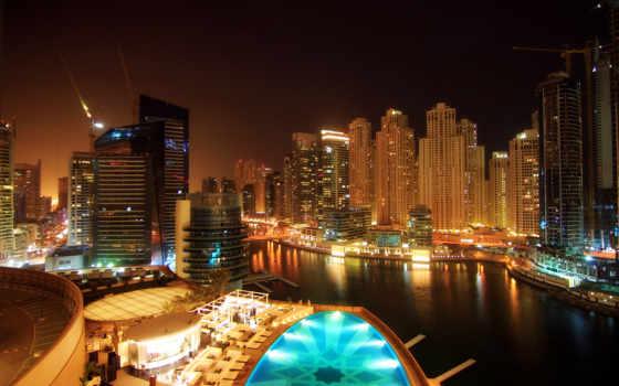 города, ночного, разрешения, высокого, огни, dubai, страница, город, pic, городов, оаэ,