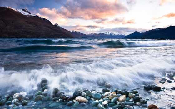 широкоформатные, zealand, море, новая, красивые, landscape, бесплатные, большие,