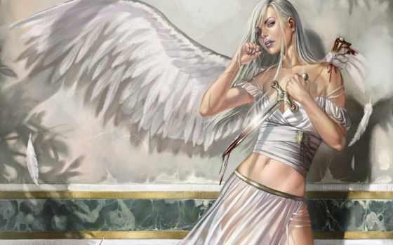 fantasy, девушка, рисунки, крыльями, angel, devushki, ангелы, красивая, красивые, крылья,