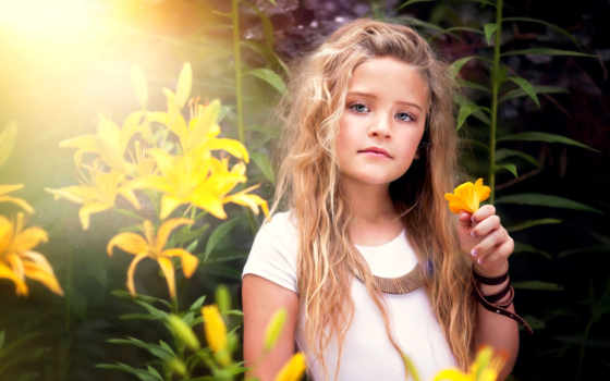 девушка, ребенок, cvety, photography, portrait, yellow, flowers, цветами,