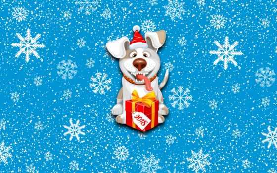 собака, новый год, год, new, дар, animal, снежинка, телефон, сладкое