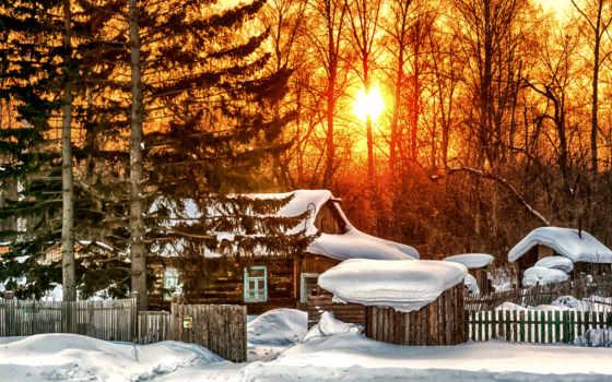 утро, winter, хороший, деревня, ольга, nekrasow, pin, день