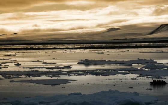 arctic, sunset
