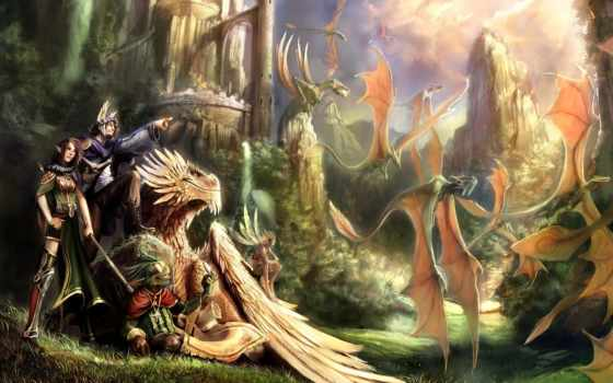 фэнтези, дракон