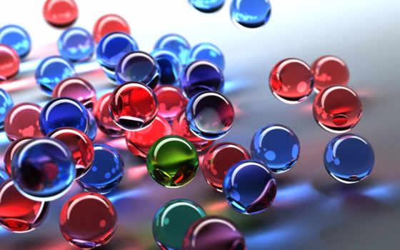 цветные, шарики, качественные