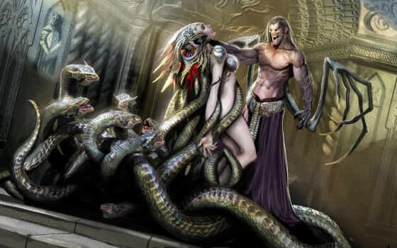 фэнтези, демон, змеи