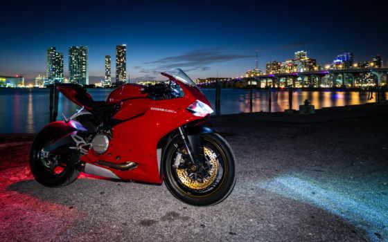 дукати, ducati, красный, мотоциклы, мотоцикл, сумерки,