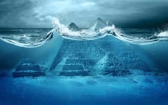 йонагуни, подводное, город, kingdom, пирамиды, подводного, подводные, underwater, города, море, под,