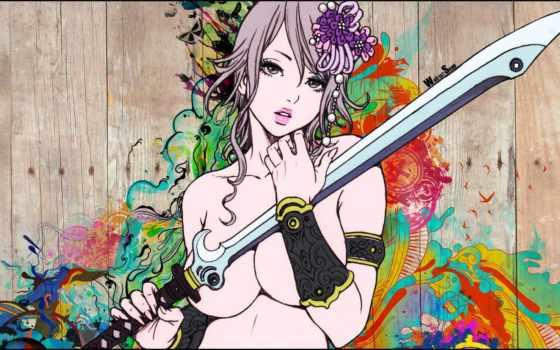 anime, girls, art, typographie, pinterest, девушка,