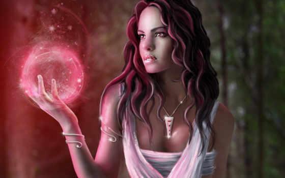 девушка, магия