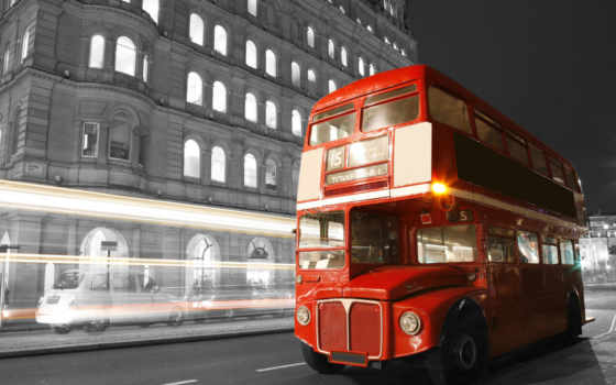 london, англия, город, bus, улица, ночь,