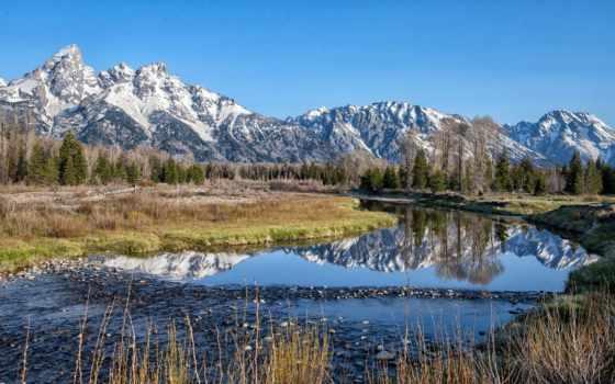природа, горы, priroda, пейзажи -, река, landscape, summer, pozadine,