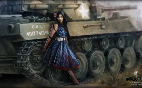 world, tanks, devushki
