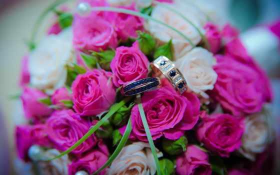 розы, cvety, букет, букеты, розовые, свадебный, картинка, roses, кольца,