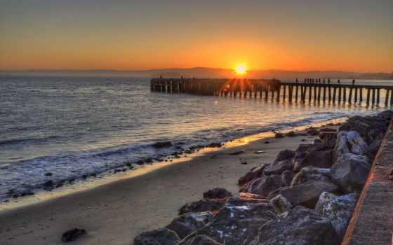 pier, фон, high, definition, пейзажи -,
