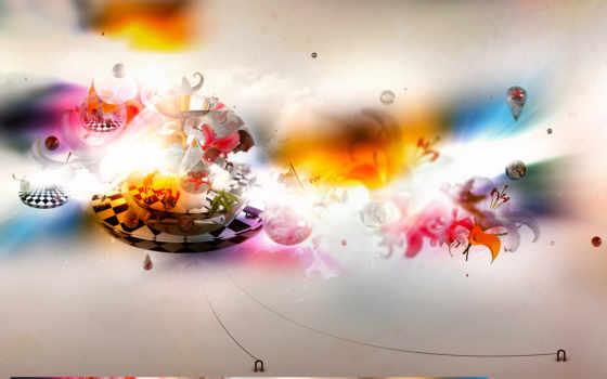 art, абстракция, abstract, design, под, старину, широкоформатные,