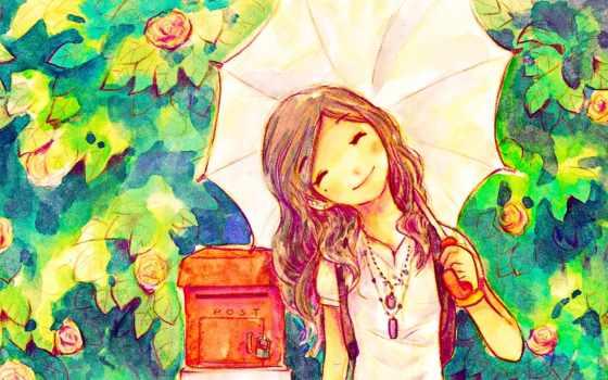 anime, место, моряк, девушка, луна, волосы, art, manga,