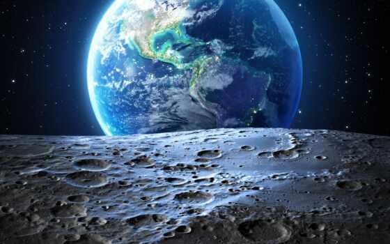луна, land, гладь, stokovyi, взгляд, license