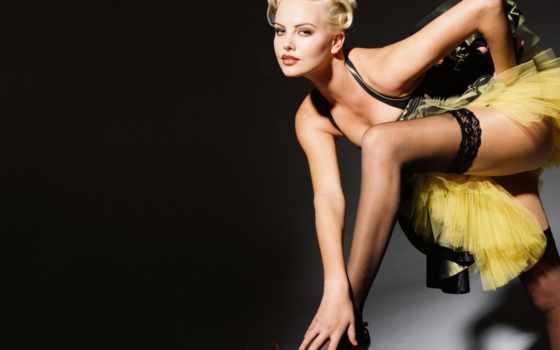 blonde, платье, чулки