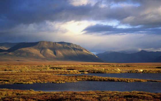 красивые, степь, природы, горная, видами, mountains, природа, виды, dempster,