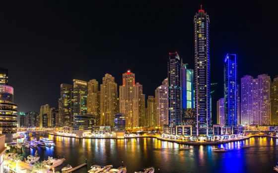 dubai, фото, город, stock, ночь, современный, scene, free, images,