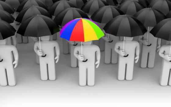 графика, человечки, взгляд, зонты, white,