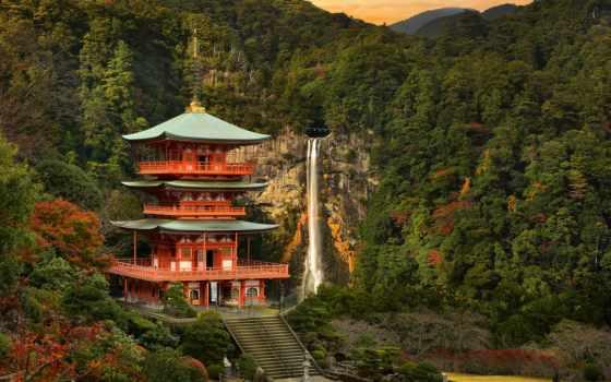 nachi, нати, япония, пагода, falls, храм, japanese, nachikatsuura, водопад, seiganto,