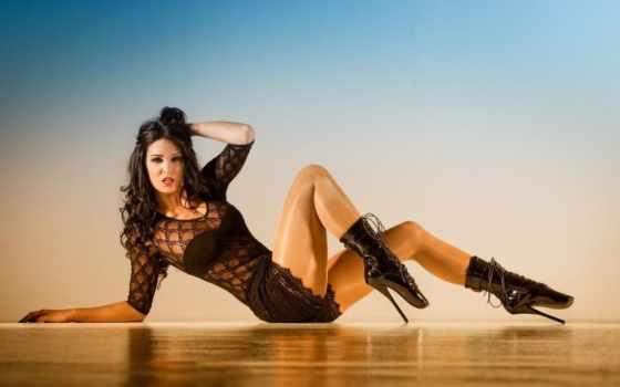 zeidler, anja, legs, boots, красавица, brunette,