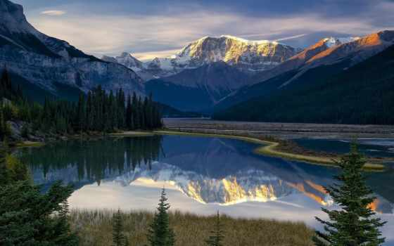 природа, пейзажи -, озеро, небо, красавица, landscape, горы, картинка, сказочно, мистические,