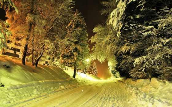 winter, зимних, красивая