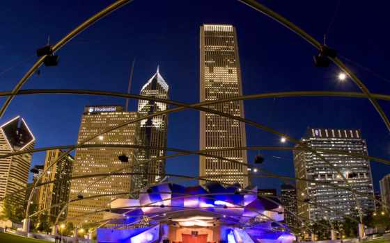 pritzker, pavilion, park, джей, chicago, millennium, architecture, grant, архитектурные,