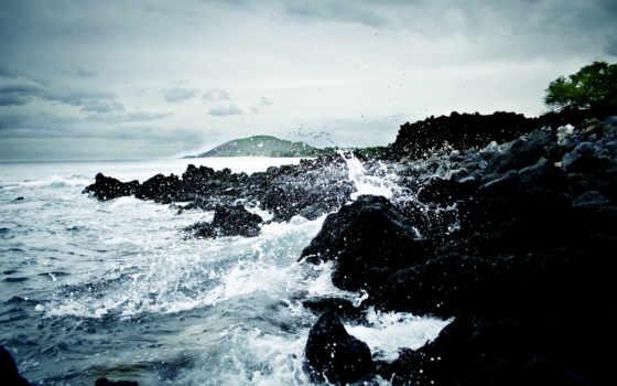 waves, море, берегу, берег, ocean, камни, моря, скалы, water, брызги,