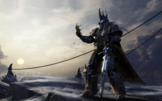 артас, короля, warcraft, лича, elevation, лич, king, меч, world, игры, angelvs,