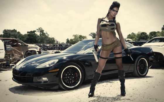 car, девушка, авто