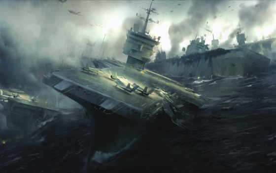 battlefield, premium, aircraft, carrier, attack, games, show, under, für,